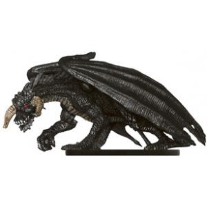 D/&D Miniatures Demonweb Black Dragon Lurker w// card